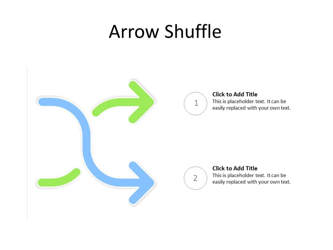 PowerPoint Slide - Arrow Diagram - 2 Arrows - Multicolor