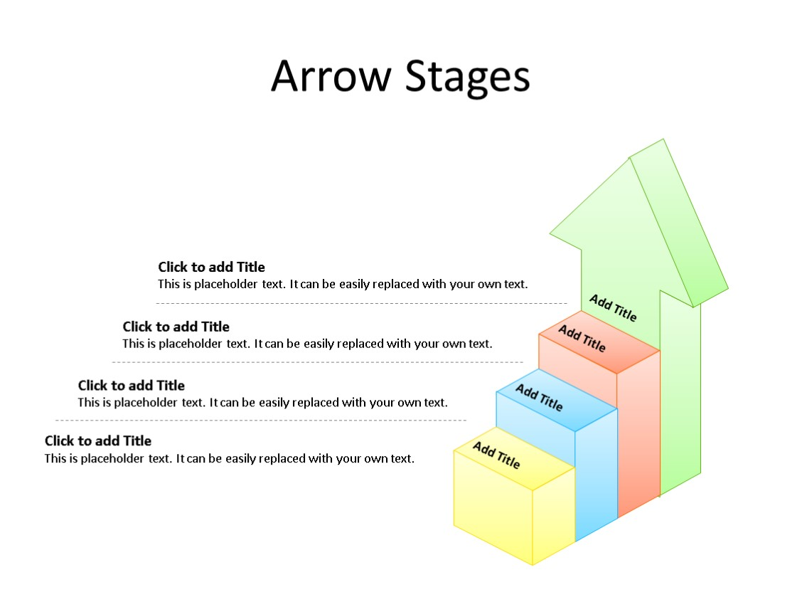 PowerPoint Slide - Stages Diagram - 4 Stages - Multicolor