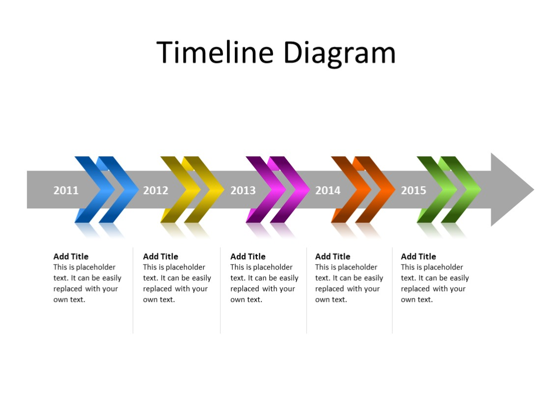 PowerPoint Slide - Arrow Diagram - 5 Year - Multicolor