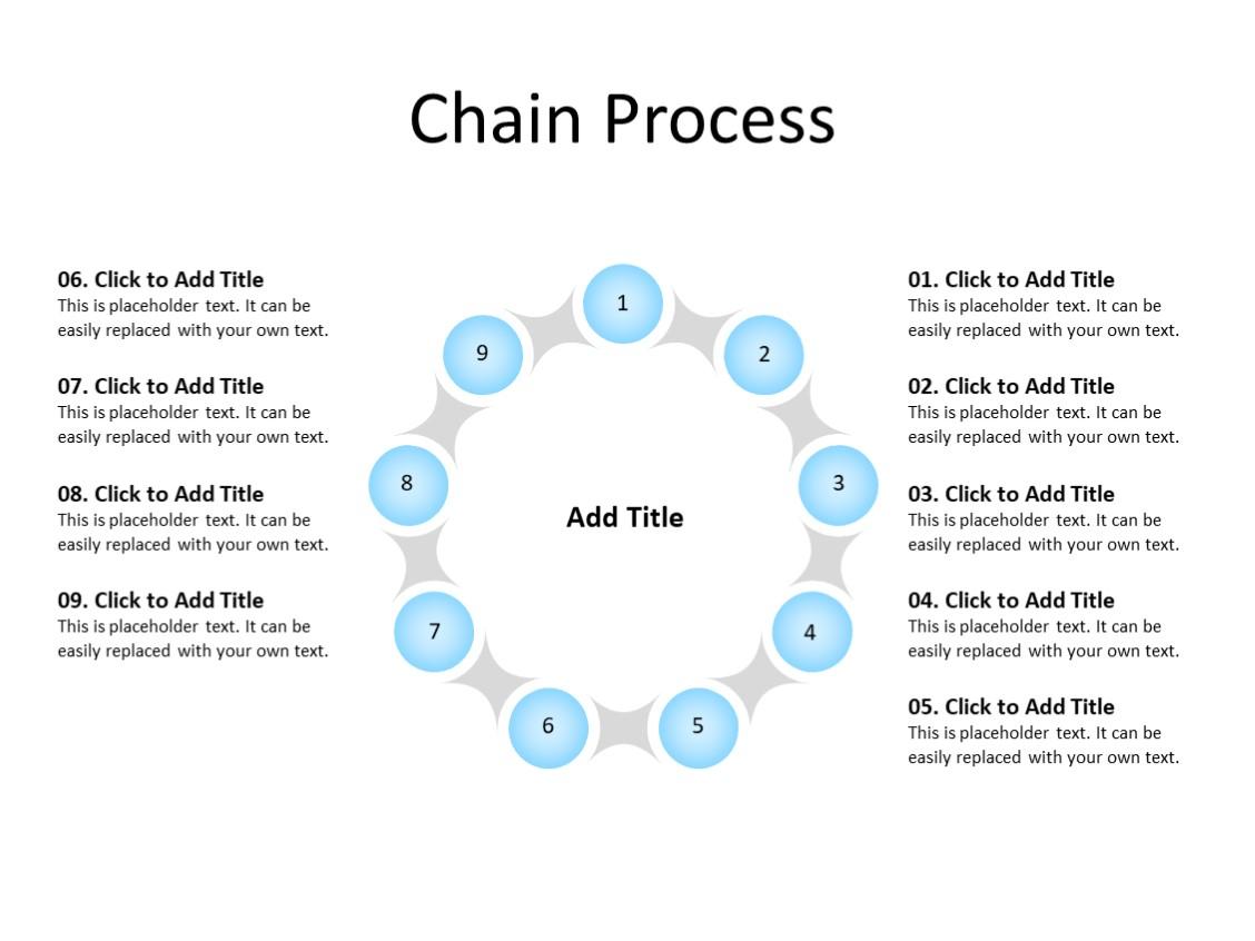 PowerPoint Slide - Steps Diagram - 9 steps - Multicolor