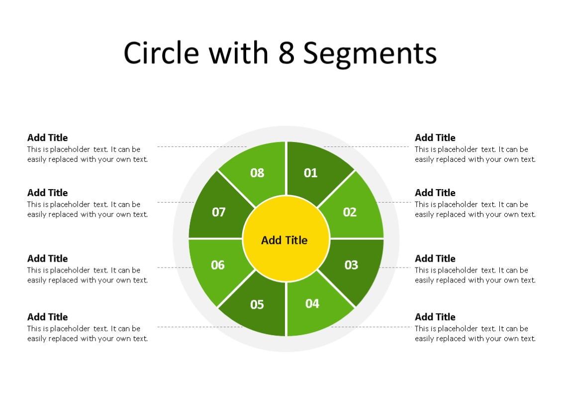 PowerPoint Slide - Segment Diagram - 8 Segments - Multicolor