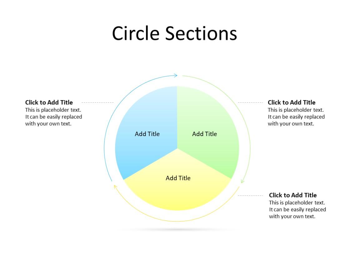 PowerPoint Slide - Steps Diagram - 3 Sectors - Multicolor