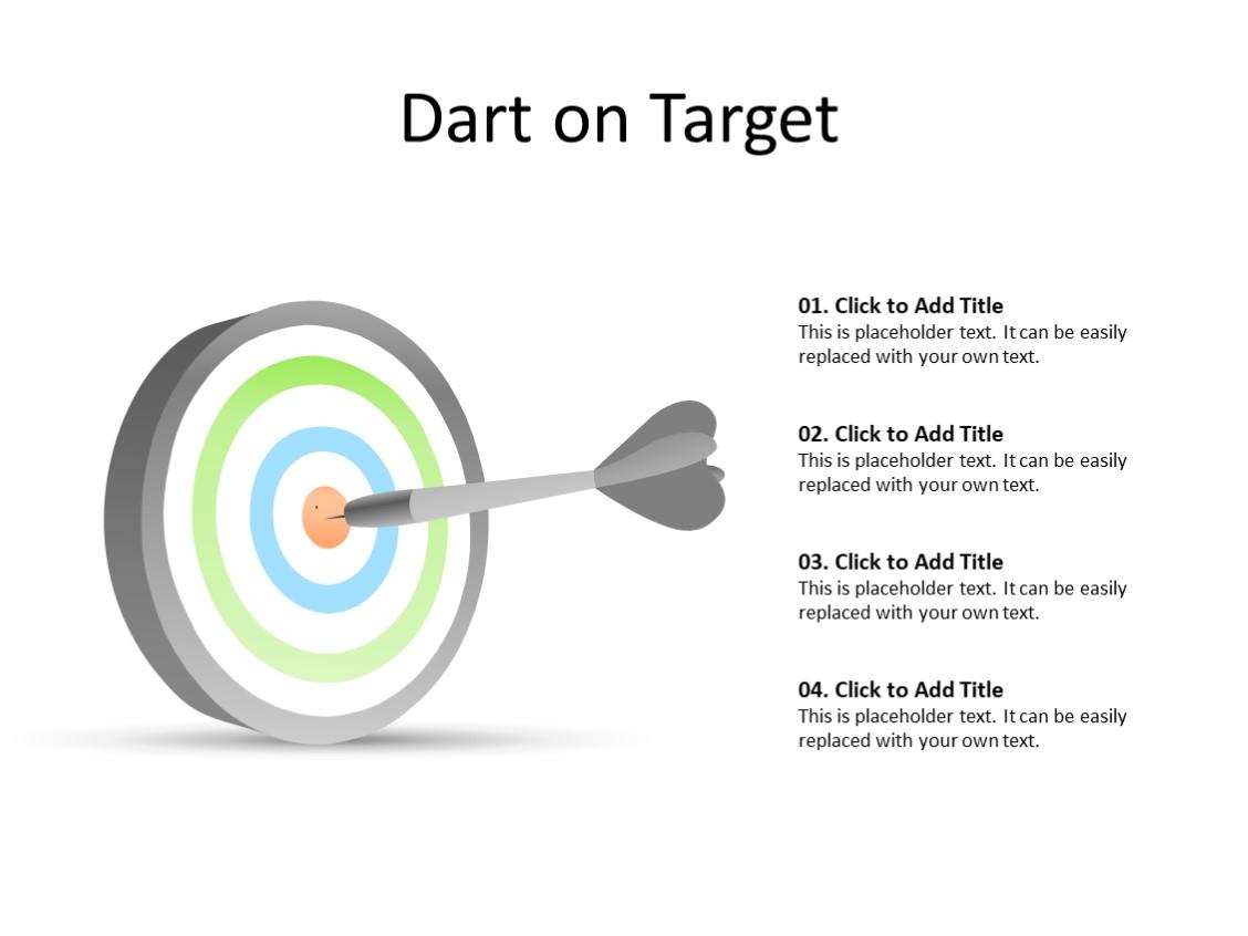 PowerPoint Slide - Dart diagram - Dart - Multicolor