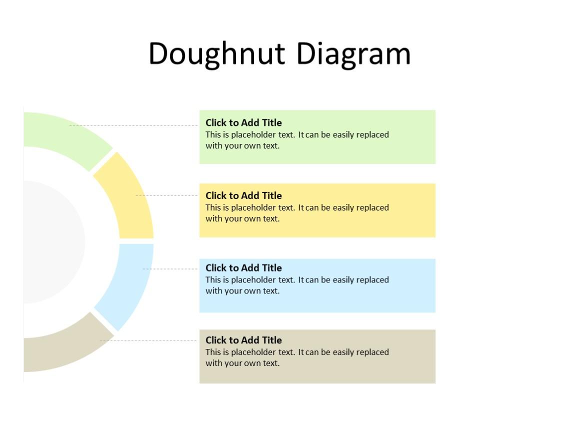 PowerPoint Slide - Doughnut diagram - 4 steps - Multicolor