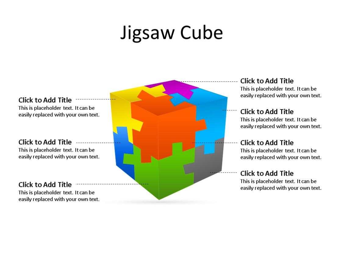PowerPoint Slide - Puzzle Diagram - 7 Pieces - Multicolor