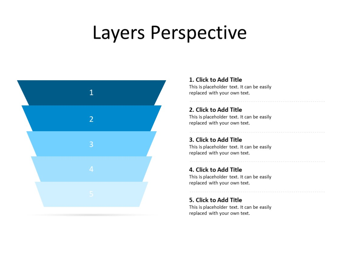 PowerPoint Slide - Layer diagram - 4 layers - Multicolor