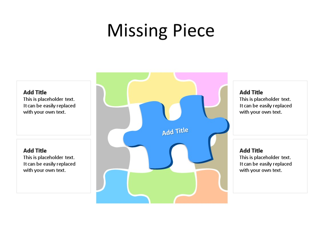 PowerPoint Slide - Puzzle Diagram - 1 Piece - Multicolor