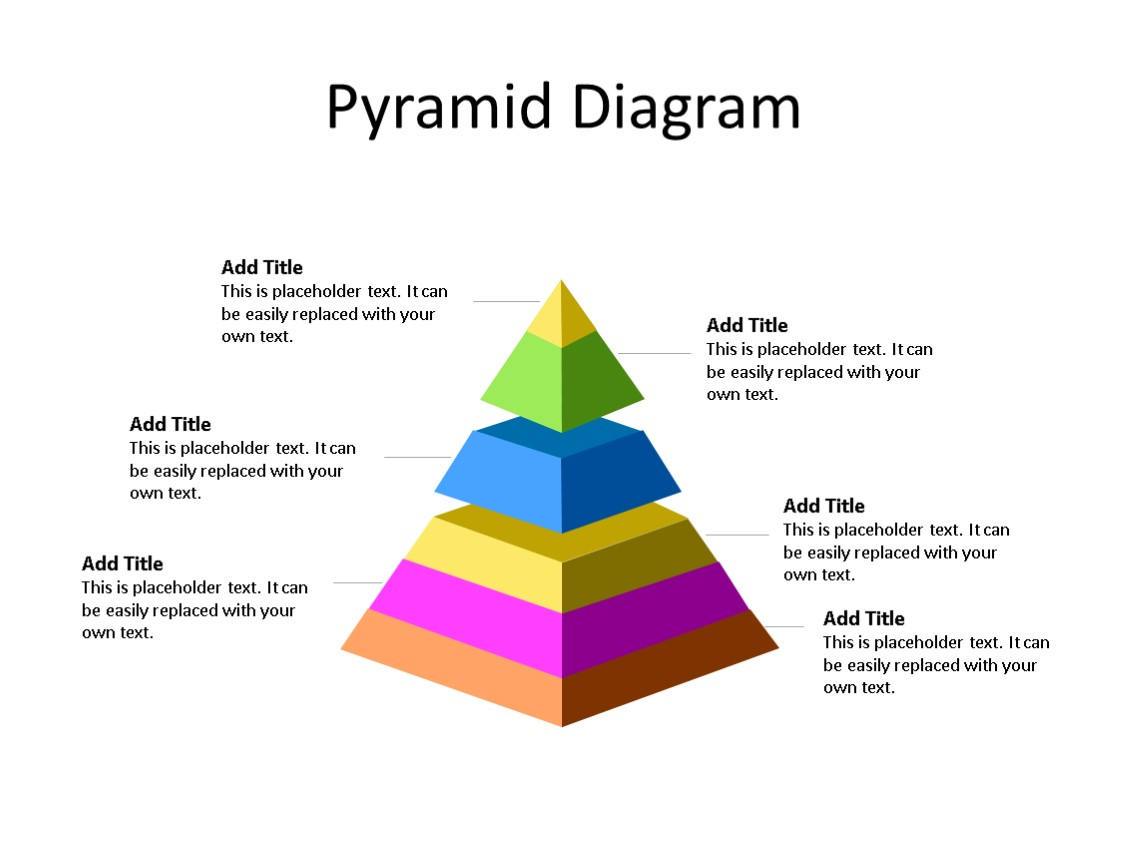 PowerPoint Slide - Pyramid Diagram - 6 Stages - Multicolor