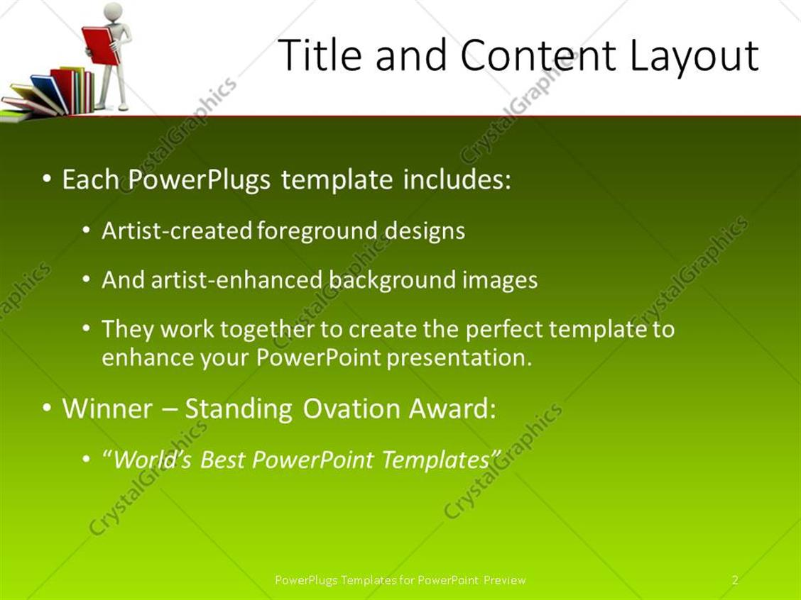 powerpoint template: a 3d character holding a book with other, Presentation templates