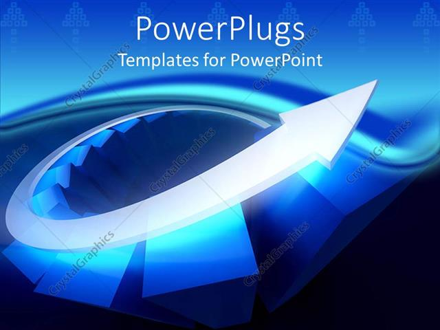powerpoint template: 3d diagram of glowing blue bars and silver, Modern powerpoint