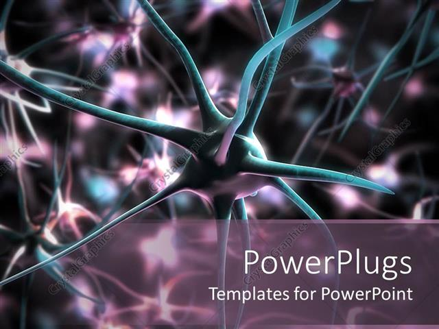 Powerpoint template 3d neuron cells medical and research powerpoint template displaying 3d neuron cells medical and research background toneelgroepblik Image collections