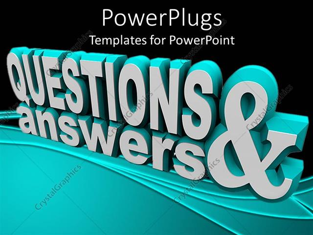 Powerpoint Template  3d Rendering Of Text Questions