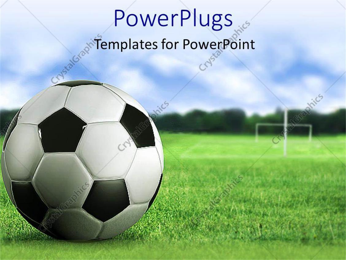 Soccer field templates eliolera powerpoint template 3d soccer ball close up on green soccer field toneelgroepblik Images