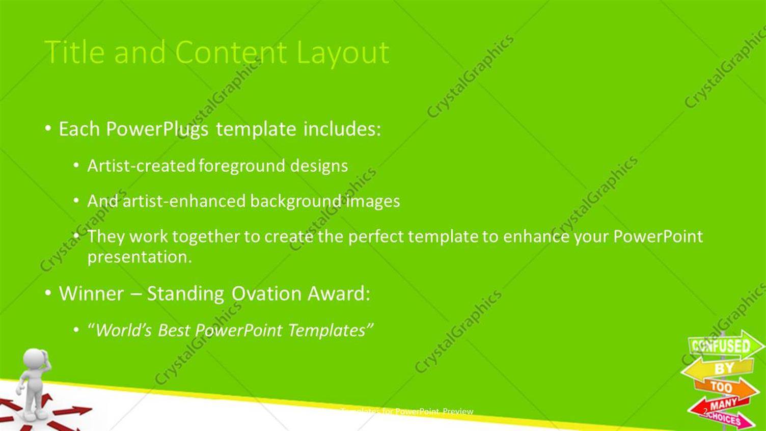 PowerPoint Template: 3D white figure thinking in center of red ...