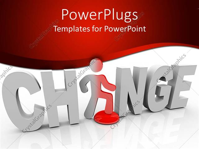 powerpoint template d word change with white letters and a, Powerpoint