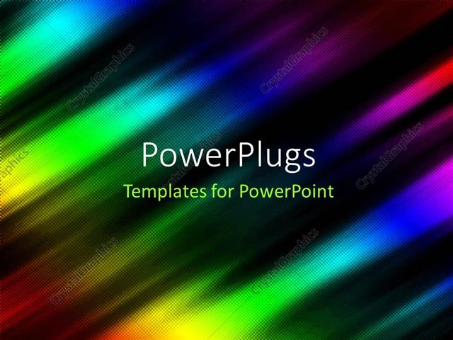 powerpoint template: abstract depiction with rainbow colored folds, Modern powerpoint