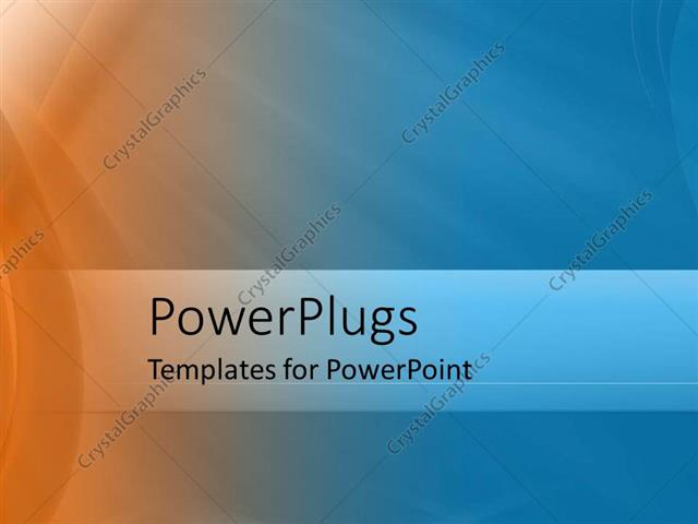 powerpoint template: abstract illuminated background with orange, Modern powerpoint