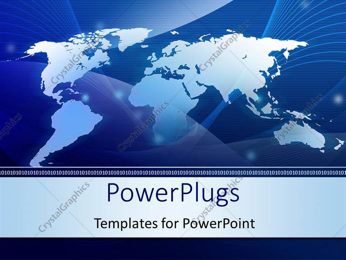 Powerpoint Template World Map