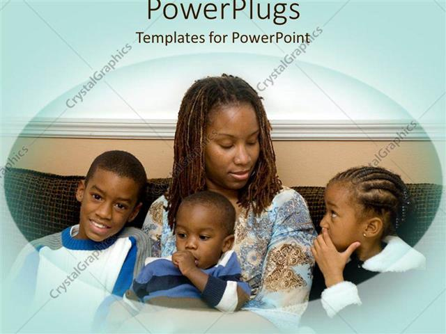 African american powerpoint template choice image powerpoint powerpoint template african american mother with three kids powerpoint template displaying african american mother with three toneelgroepblik Choice Image