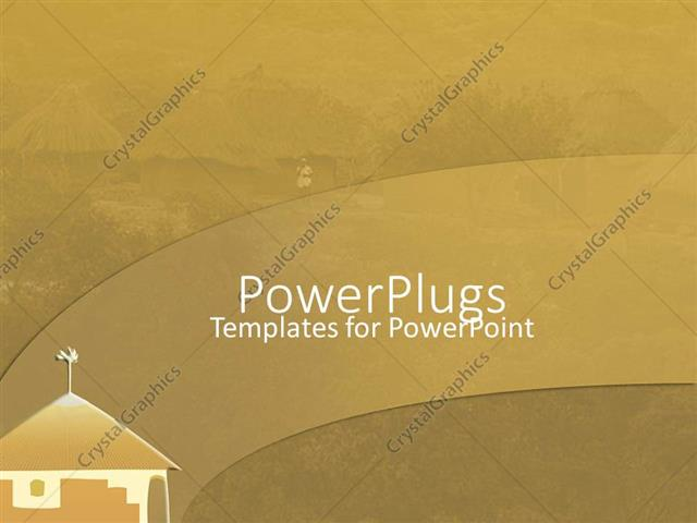 setting up a powerpoint template - powerpoint template african village setting with mordern