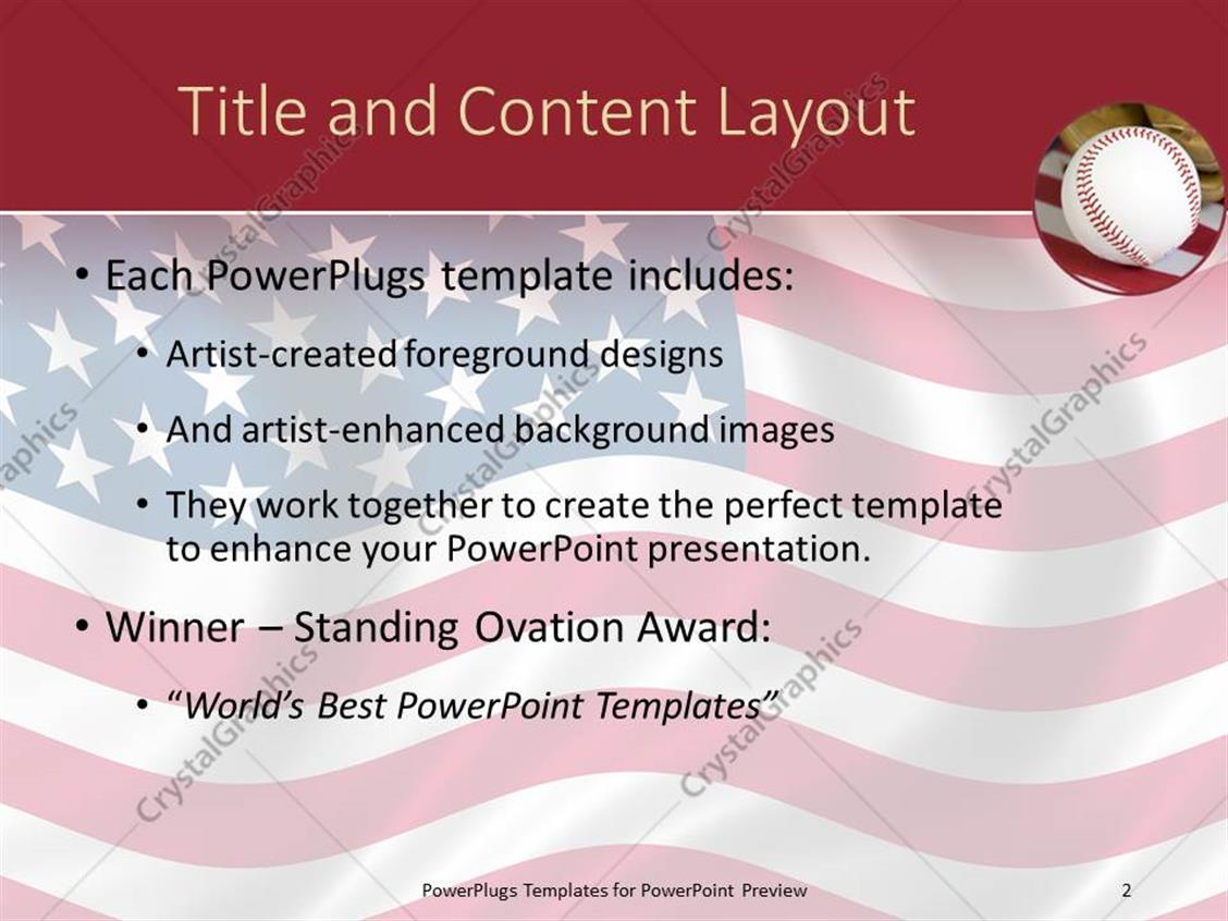 baseball themed powerpoint template images - templates example, Modern powerpoint