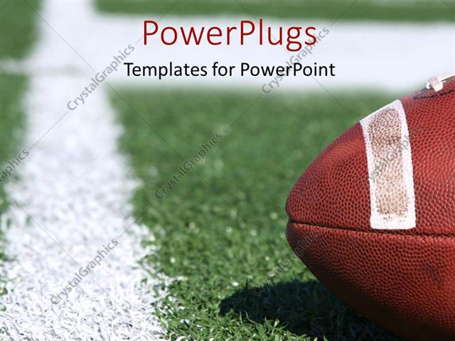 Powerpoint Template American Collegiate Football On A Sports