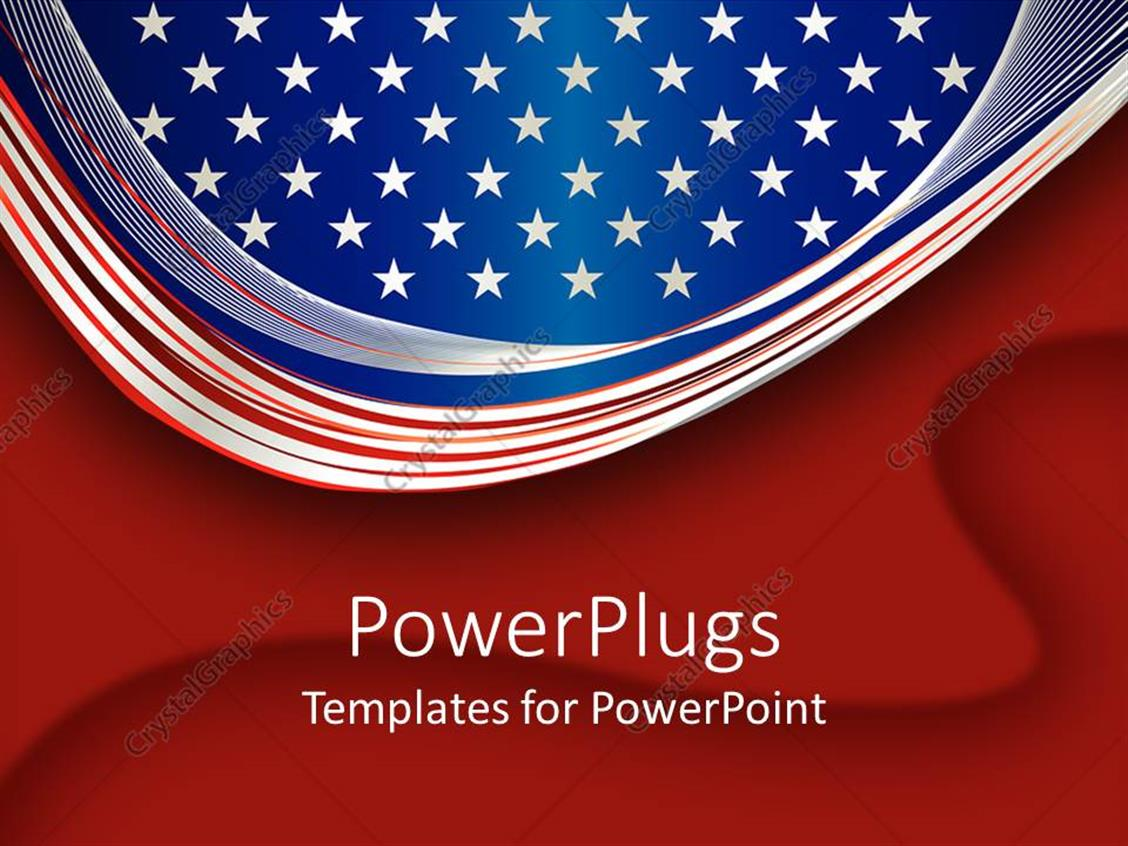 powerpoint template an american flag with bright