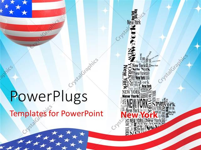 Powerpoint template american flag over abstract background with powerpoint template displaying american flag over abstract background with new york forming statue of toneelgroepblik Images
