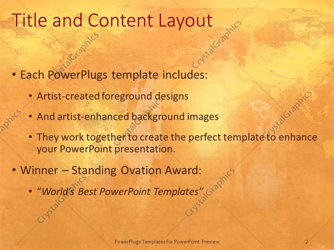 powerpoint template: ancient statues egyptian statues fading in, Modern powerpoint