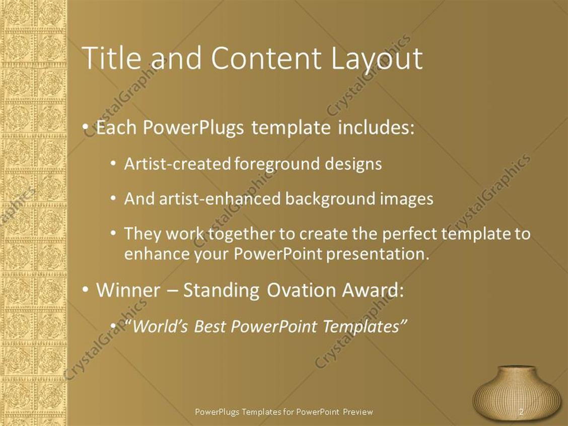 Powerpoint template ancient wall art vase in bottom right corner powerpoint products templates secure toneelgroepblik Choice Image