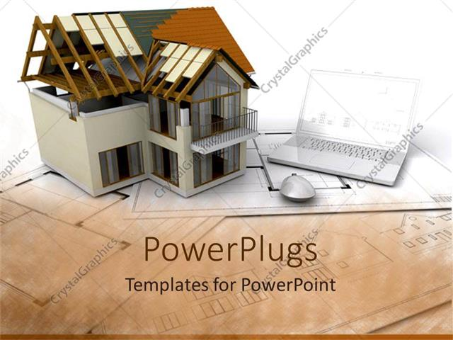 Powerpoint template architectural design of building beside powerpoint template displaying architectural design of building beside laptop and computer mouse on toneelgroepblik Images