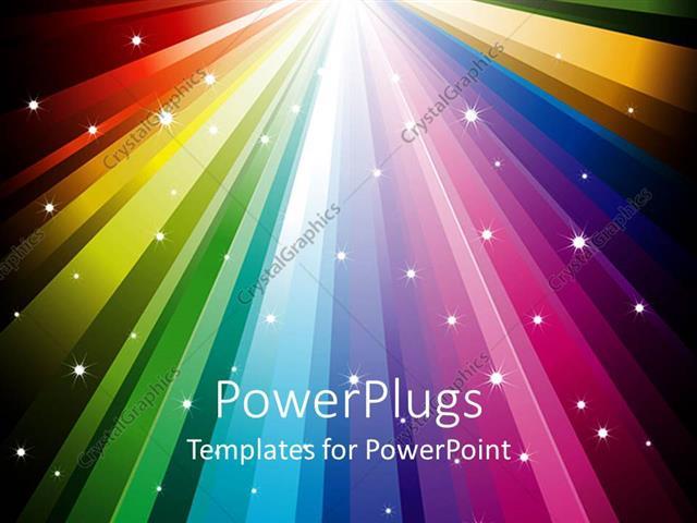 Powerpoint template an array of bright colorful lights with stars powerpoint template displaying an array of bright colorful lights with stars on them toneelgroepblik Choice Image