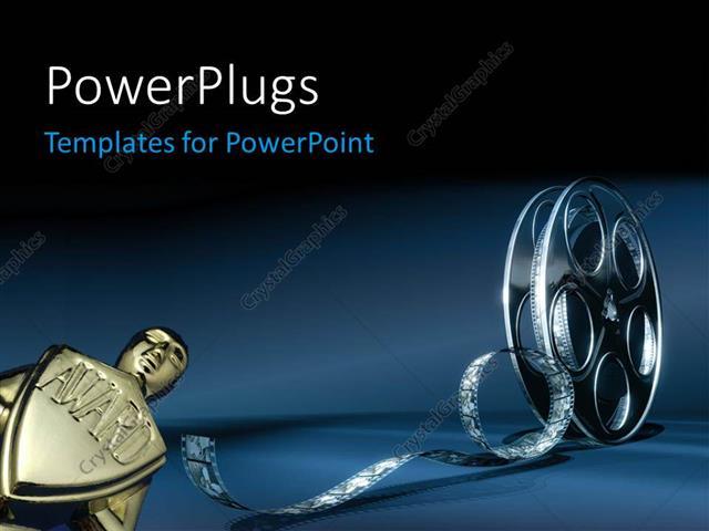 Powerpoint template award with 3d cinema film reel 12038 powerpoint template displaying award with 3d cinema film reel toneelgroepblik Image collections