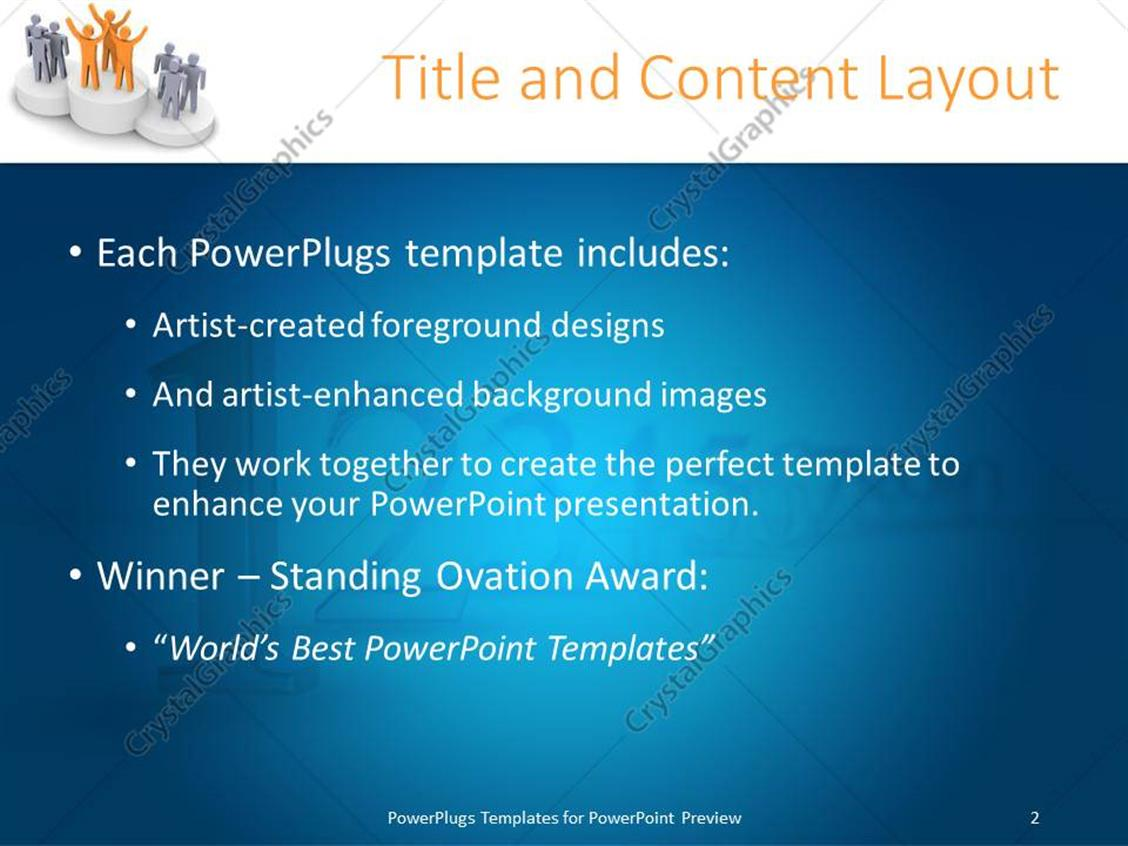 powerpoint template: award presentation on podium with winning, Presentation templates
