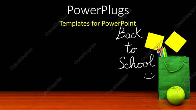 Powerpoint template learning depiction with school materials and powerpoint template displaying learning depiction with school materials and sticky note on chalkboard toneelgroepblik Images