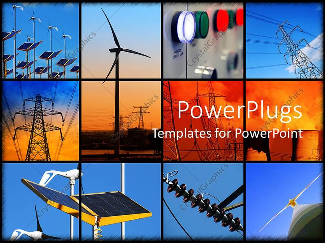 PowerPoint Template: background formed of twelve different ...