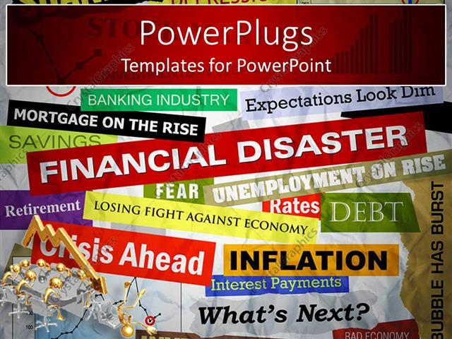 Powerpoint template a background full of text related to finance powerpoint template displaying a background full of text related to finance and economics toneelgroepblik Image collections