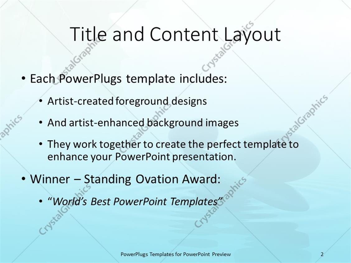 Powerpoint template balance stone in a zen water with green leaf powerpoint products templates secure toneelgroepblik Gallery