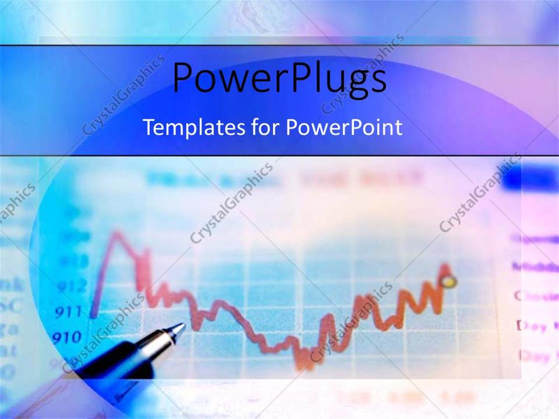 PowerPoint Template Displaying Ball Point Penon Multi-ColoredBinary Options Chart