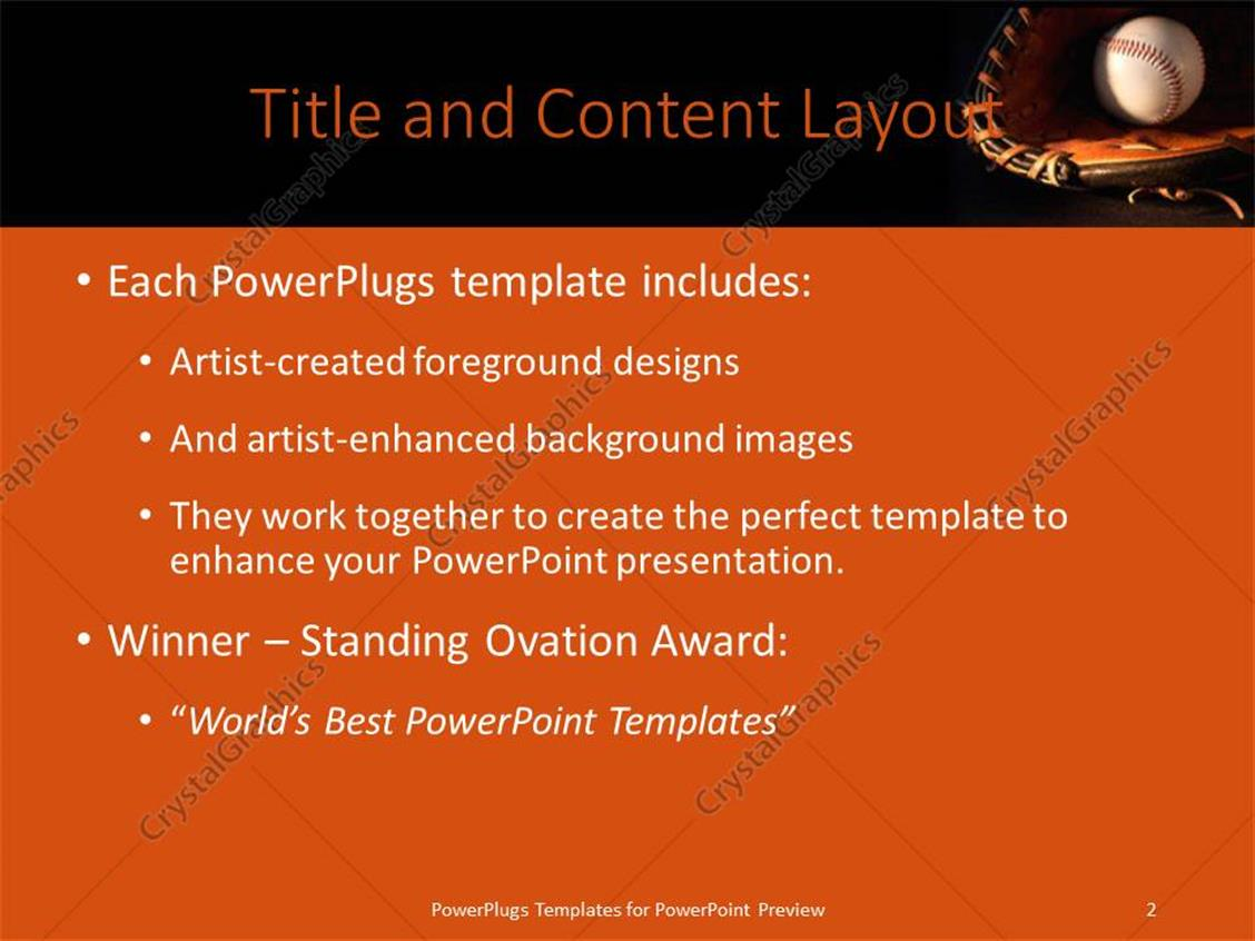 Powerpoint template a baseball and glove with blackish background powerpoint products templates secure toneelgroepblik Image collections