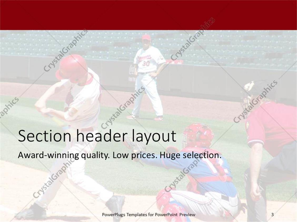 Powerpoint template a baseball hitter with empty stands in the powerpoint products templates secure toneelgroepblik Image collections
