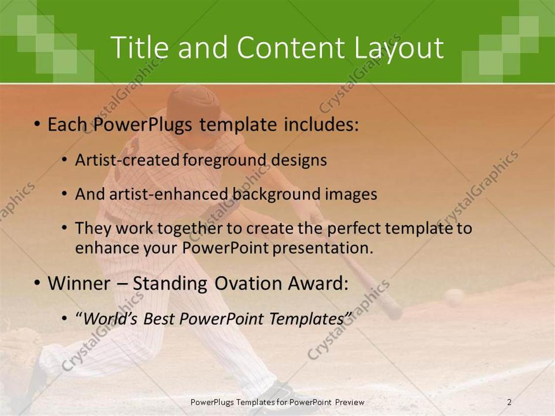 Powerpoint template a baseball player hitting the ball with full powerpoint products templates secure toneelgroepblik Image collections