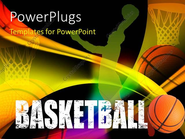 Powerpoint Template: A Basketball Player'S Representation With