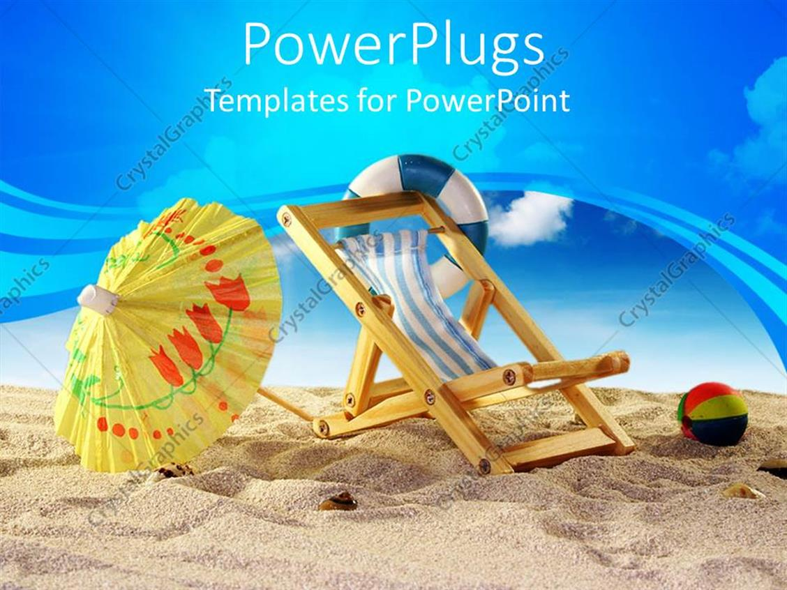 100 beach template powerpoint powerpoint template feet of a beach template powerpoint powerpoint template beach with a beach ball chair and yellow toneelgroepblik Choice Image