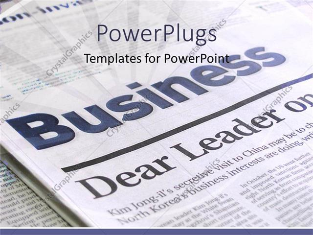 Powerpoint Template: A Beautiful Depiction Of A Business Page Of A