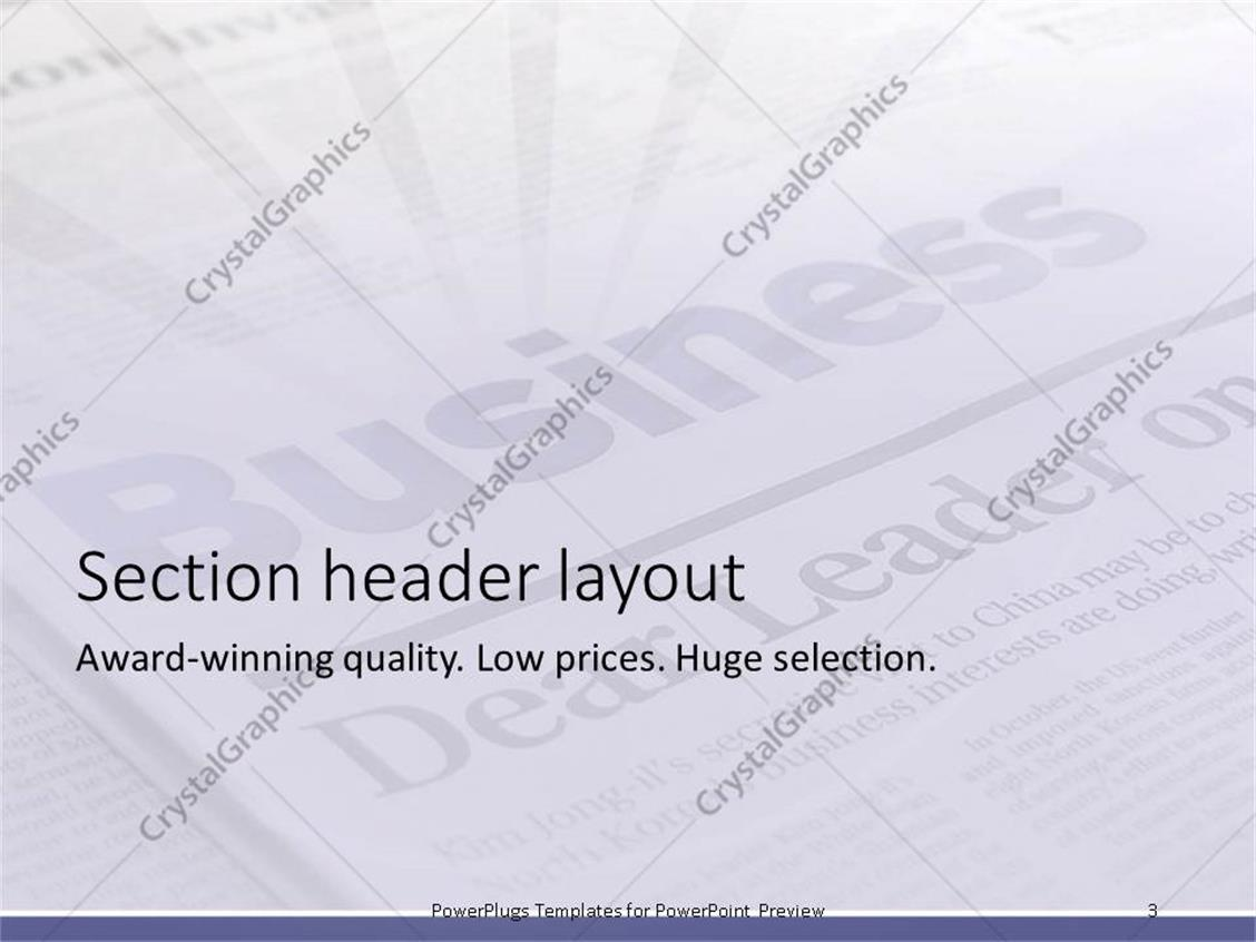 newspaper template powerpoint