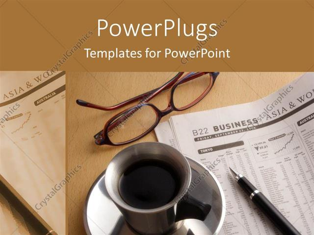 Powerpoint Template A Beautiful Depiction Of A Coffee And A