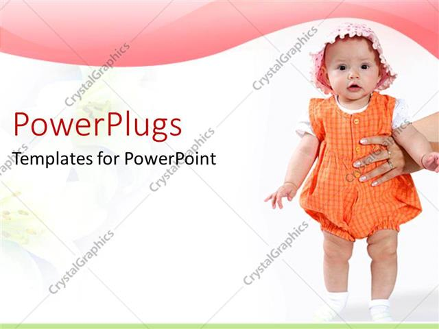 PowerPoint Template Displaying a Beautiful Kid with White Background