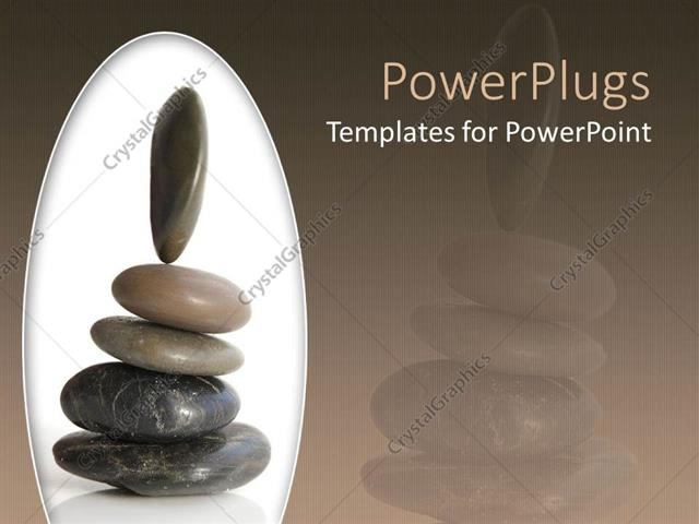 Powerpoint template a beautiful representation of a group of zen powerpoint template displaying a beautiful representation of a group of zen stones place don each other toneelgroepblik Gallery