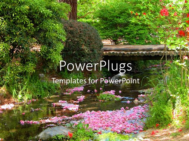 Powerpoint Template Beautiful Scenery Of Spring With Blossoming